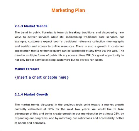 marketing caign planning template 21 microsoft word marketing plan templates free