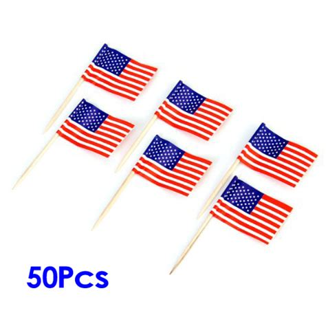 Cake Topper 50pcs americans flags 50pcs cake decoration rods for cupcake bt ebay