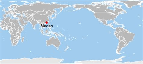 macao on world map macau world map map of macau on world