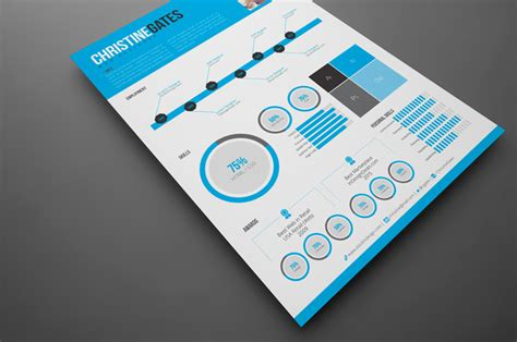 Modern Infographic Resume Stockindesign Infographic Indesign Template