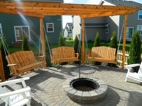 hanging swing fire pit hanging swings around fire pit how to build fire pit
