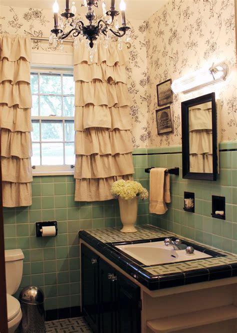 powder blue tile bathrooms  love
