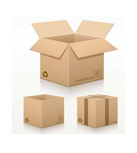 templates of boxes cardboard box template 17 free sle exle format
