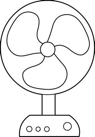 fan clipart coloring page pencil and in color fan