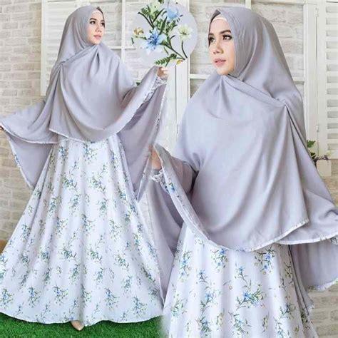 Baju Gamis Baju Muslim Syari Safara Syari baju gamis syari wolfis terbaru valentina abu model baju gamis terbaru
