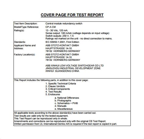 simple report template word test report template 10 performance and load test report