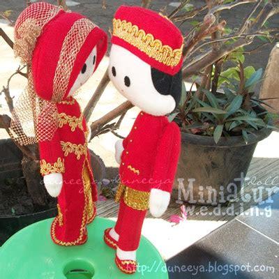 Miniatur Boneka Flanel Wedding craft souvenir educative toys boneka miniatur
