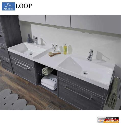 Doppelwaschtisch Mit Unterschrank 102 by Marlin Loop Badm 246 Bel Set 160 Cm Mit Led Spiegelschrank
