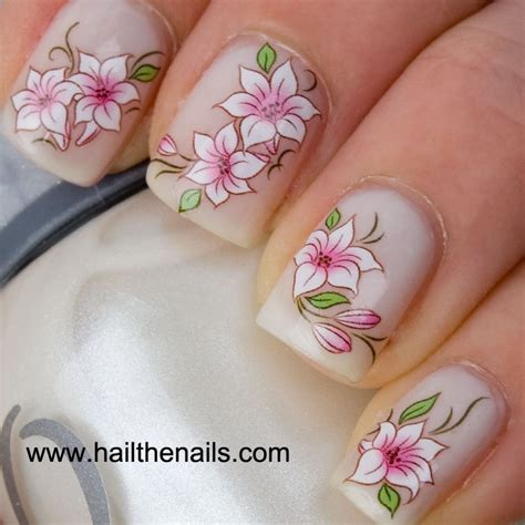Floral Nail Sticker flower nail stickers best of abstract floral nail