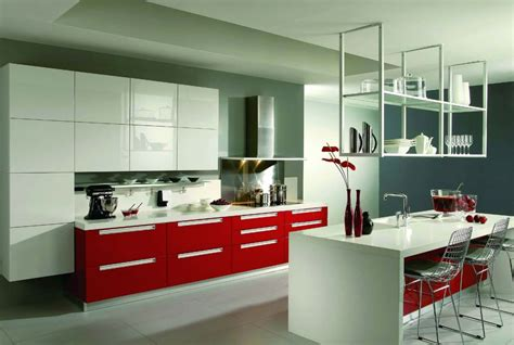 red lacquer kitchen cabinets minimalist red lacquer kitchen cabinet