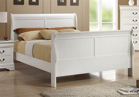 poundex f9231 louis philippe sleigh bedroom set white sleigh bed orange county white queen bed anaheim