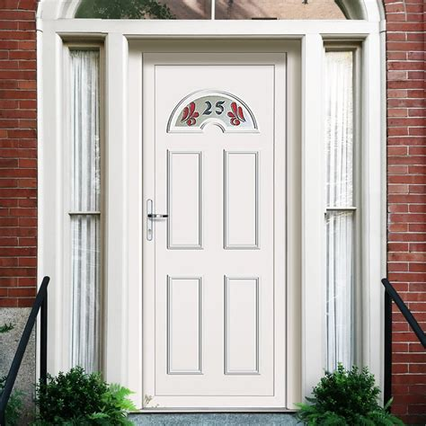 House Doors Exterior Exterior Upvc Lomond One House Number Door External White Pvc Doors
