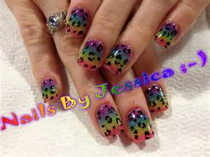 colorful acrylic nails rainbow colored acrylic nail gallery