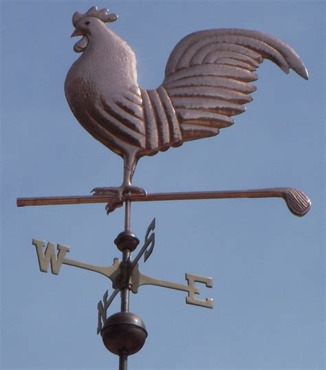 Rooster Weather Vanes Flushing Pheasant Weathervane Handcrafted Of Copper