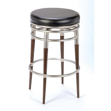 backless black swivel bar stools hillsdale salem 26 quot h counter height backless swivel black