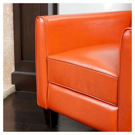 orange leather recliner darvis recliner club chair orange leather christopher
