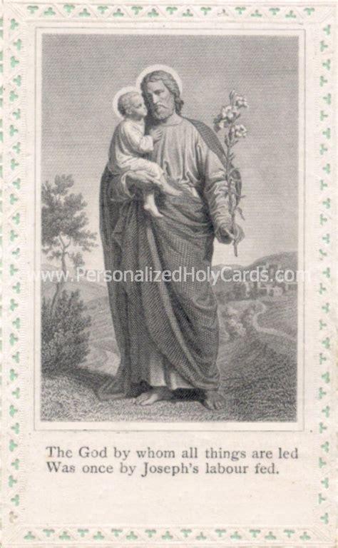 custom prayer custom catholic holy cards personalized prayer cards