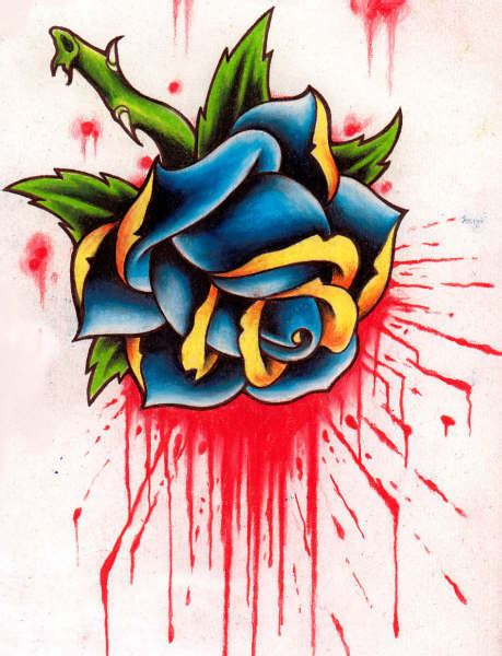 bleeding roses tattoos bleeding design