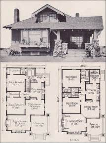 house plans bungalow 1922 craftsman style bunglow house plan no l 114 e w