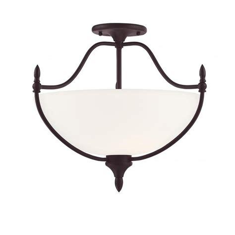 bronze semi flush mount light kenroy home alessandra 3 light bronze semi flushmount