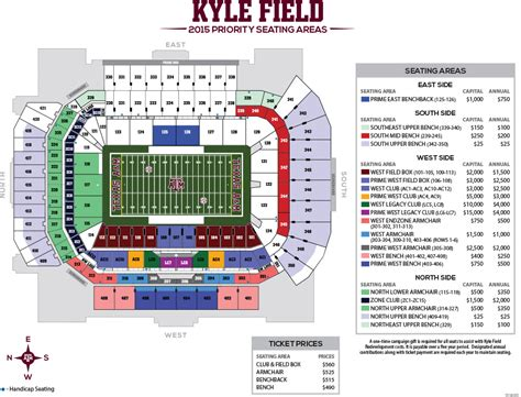 kyle field visitor section student section at your stadium secrant com