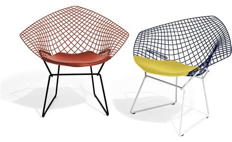 Chair Bertoia by Bertoia Chair Two Tone With Seat Cushion