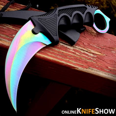 karambit neck knife 7 5 quot cs go tactical knife combat karambit neck knife