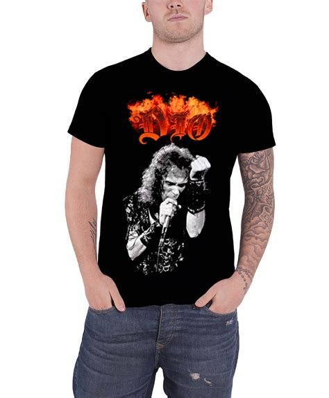 dio t shirt the last in line holy diver band logo ronnie