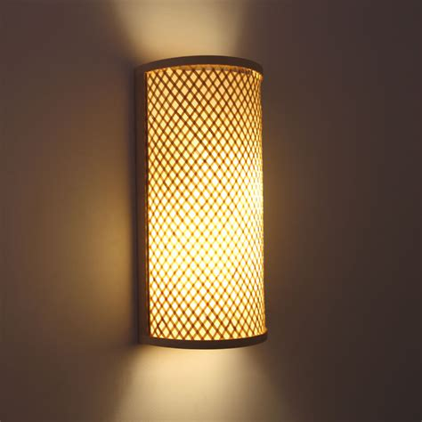 japanese style knitted bamboo bedside wall l