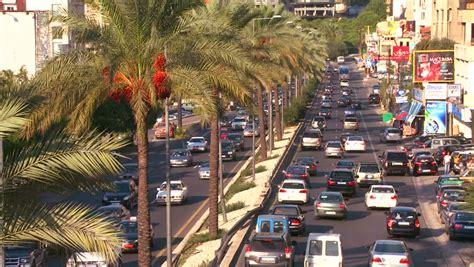 beirut lebanon circa 2013 the recently restored beirut lebanon circa 2013 traffic clogs the roads of
