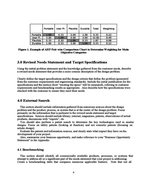 design report guidelines an exle format for design project reports free download