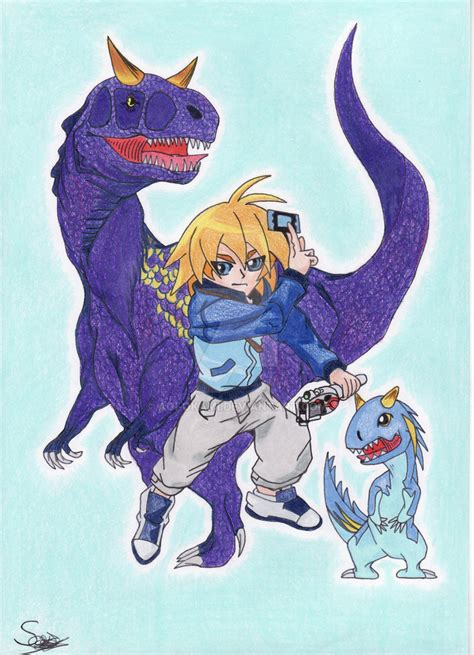 dinosaur king painting dinosaur king rex and ace by aoi okami on deviantart