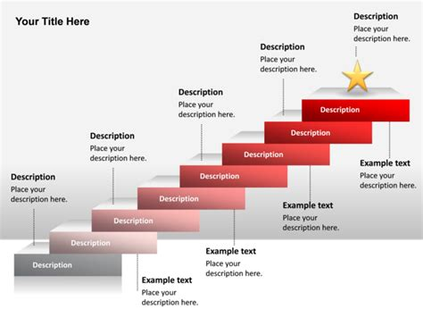 powerpoint tutorial step by step powerpoint slide step up process diagram 3d star 8