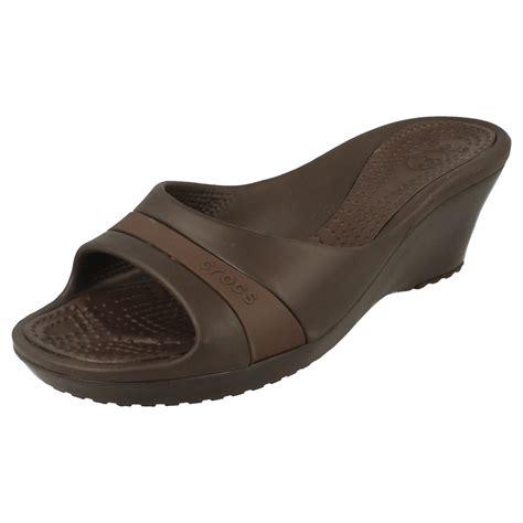 Sandal Wedges Ls08 Hitam 59 crocs wedge sandal sassari ebay
