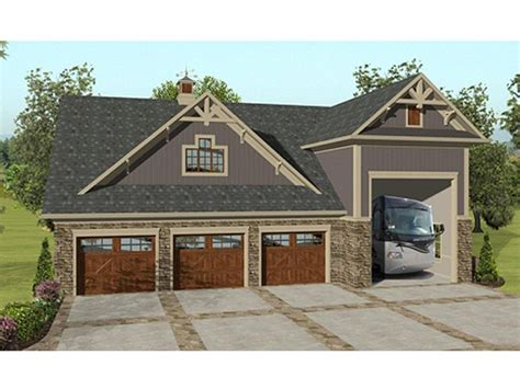 3 car garage designs garage apartment plans garage apartment plan with rv bay and 3 car garage design 007g 0018