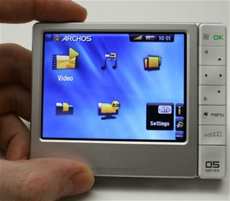 Archos Pmp Thats Portable Media Player To The Uninitiated by Archos 405 Portable Media Player And Dvr Dock Between