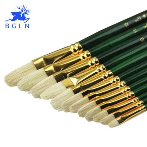 acrylic paint on canvas brushes 12pcs set mixed size bristle hair paint brush acrylic