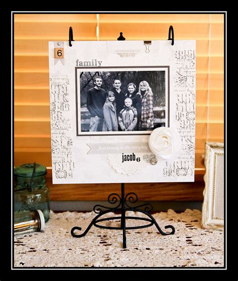 scrapbook layout holder teresa collins design team hanging scrapbook page by