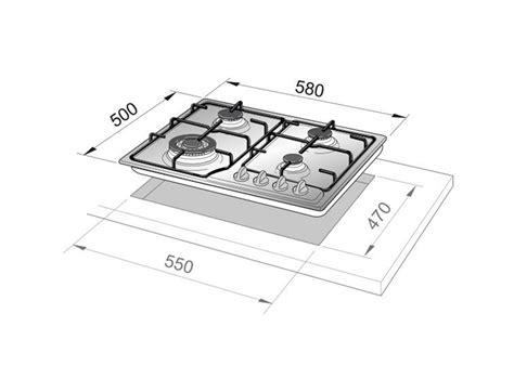 piani cottura de longhi de longhi anf46pro piano cottura antracite 60 cm delonghi