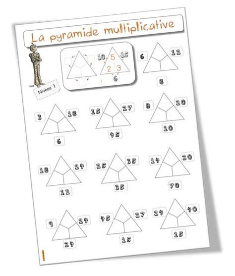 La Pyramide Des Multiplications Fiches 233 L 232 Ves