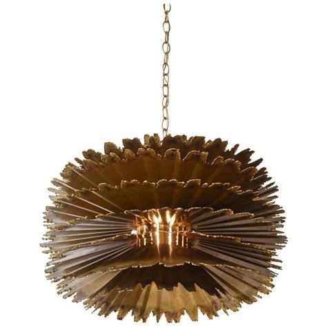 large orb chandelier large brutalist orb chandelier by t a greene for feldman lighting at 1stdibs