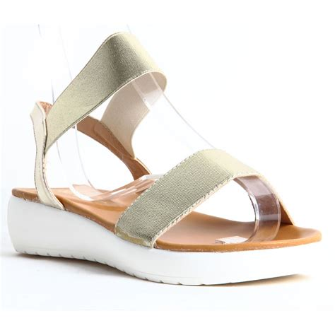 comfortable summer shoes womens ladies slip on platform wedge summer sandals