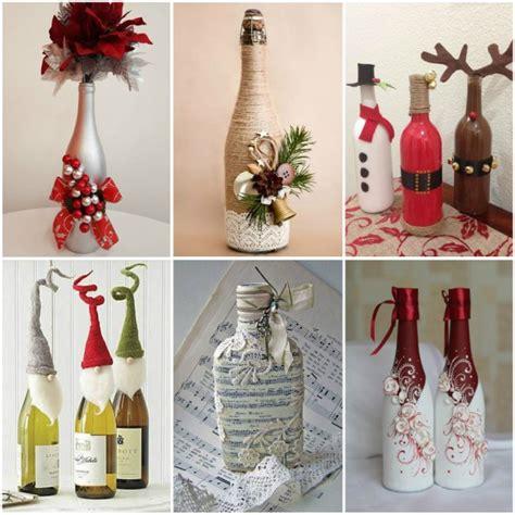 decorar garrafa pet reciclagem garrafas decoradas para o natal 20 ideias