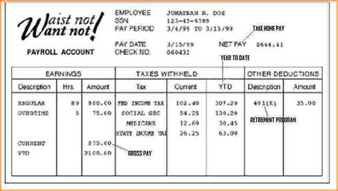 Exle Pay Stub For Students How To Format Cover Letter Truck Driver Pay Stub Template