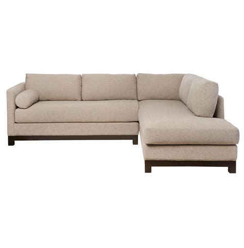 linen sofa sectional cisco brothers cosmo modern natural linen sofa sectional
