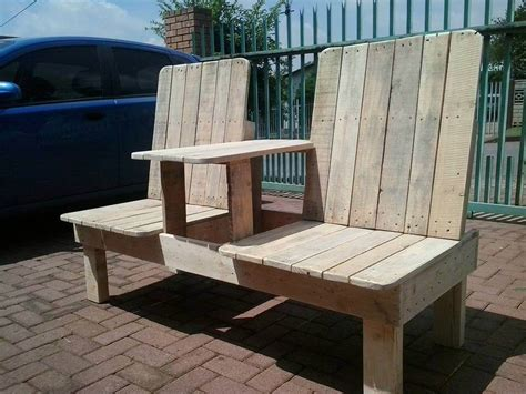 bench cost recycled pallet double chair bench 99 pallets