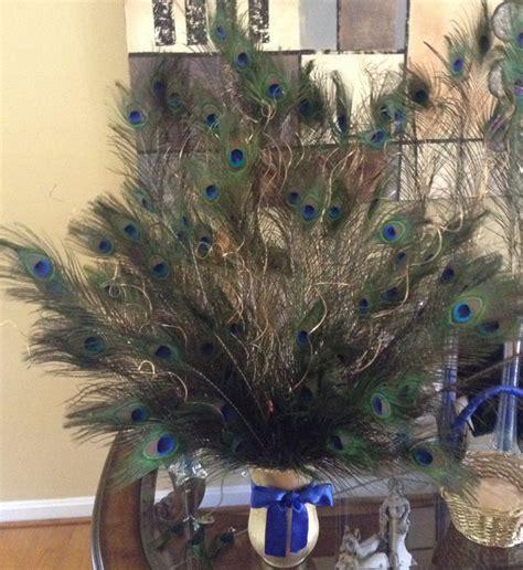 plumas para decoracion florero con plumas de pavo real decoracion pinterest