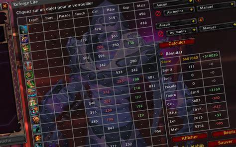 Reforge Lite by Guide Reforge Lite Et Simulationcraft Millenium