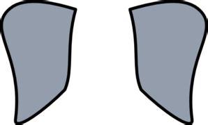 Elephant Ear Template by Elephant Ears Clip At Clker Vector Clip