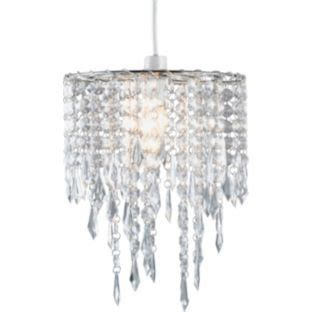beaded ceiling light shades buy living beaded pendant light shade clear at argos co